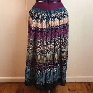 Alfred Dunner Stain Glass Butterfly Maxi Skirt